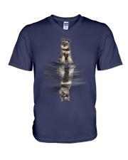 MINIATURE SCHNAUZER Dreaming V-Neck T-Shirt thumbnail