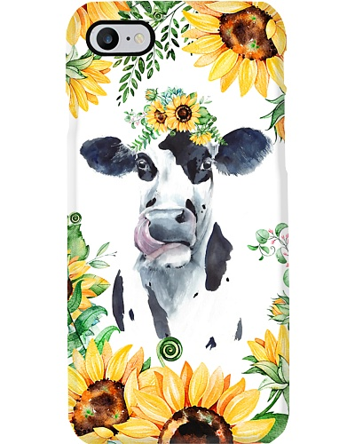 Cow Sunflower Phonecase