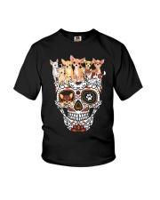 Skull Chihuahua Youth T-Shirt thumbnail