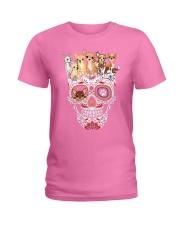 Skull Chihuahua Ladies T-Shirt thumbnail