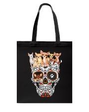 Skull Chihuahua Tote Bag thumbnail