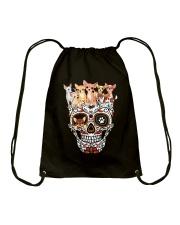 Skull Chihuahua Drawstring Bag thumbnail