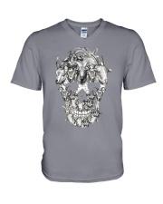 Goat Skull V-Neck T-Shirt thumbnail