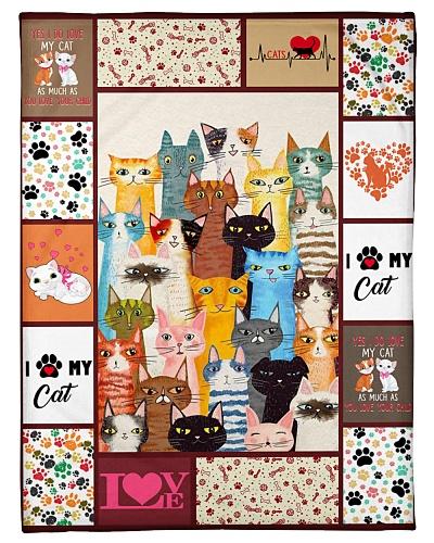 Cat Funny Blanket I Love My Cat Graphic Design