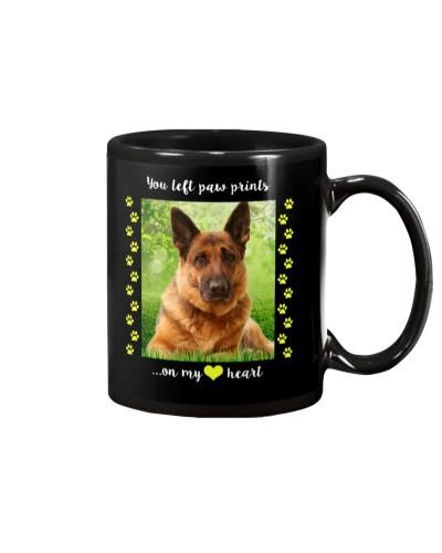 German Shepherd- You Left paw Prints On My Heart