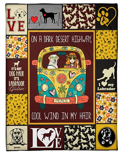 Labrador Funny Blanket On A Dark Graphic Design
