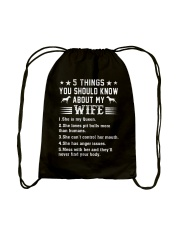 Pitbull Things You Should Know Drawstring Bag thumbnail