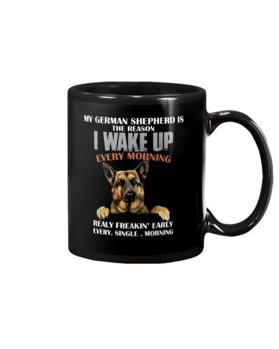 German Shepherd - I wake up
