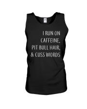 Run On Caffeine and Pit Bull Hair Unisex Tank thumbnail