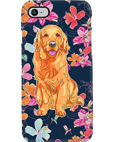 Golden Retrievers Happy Flower Phonecase