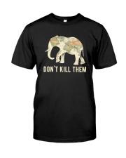 Elephant - Don't kill them Classic T-Shirt front