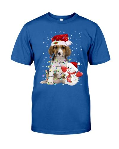 Beagle Snowman