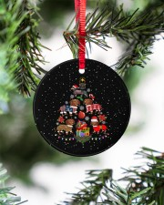Dachshund Christmas Tree Circle ornament - single (porcelain) aos-circle-ornament-single-porcelain-lifestyles-07