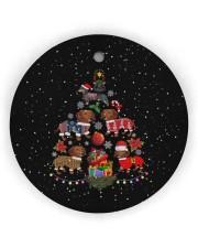 Dachshund Christmas Tree Circle Ornament (Wood tile