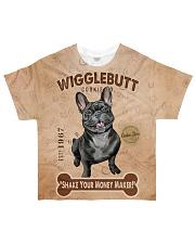 French Bulldog Wigglebutt All-over T-Shirt front