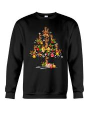 German Shepherd Christmas Tree Crewneck Sweatshirt thumbnail