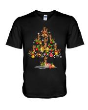 German Shepherd Christmas Tree V-Neck T-Shirt thumbnail