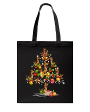 German Shepherd Christmas Tree Tote Bag thumbnail