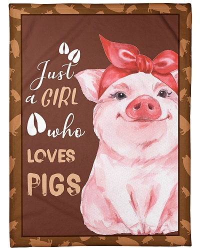 Pig Just A Girl Who Loves Pigs