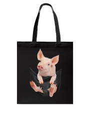Pig In Pocket Tote Bag thumbnail