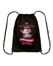 Elephant Ladies Are Born In  April Drawstring Bag thumbnail