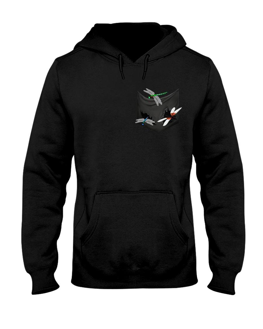 Dragonfly In Pocket Hooded Sweatshirt