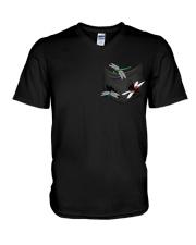 Dragonfly In Pocket V-Neck T-Shirt thumbnail