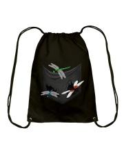 Dragonfly In Pocket Drawstring Bag thumbnail
