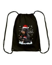 Dachshund Christmas Drawstring Bag thumbnail