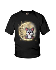 Wolf anh the moon Youth T-Shirt thumbnail