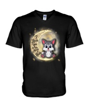Wolf anh the moon V-Neck T-Shirt thumbnail