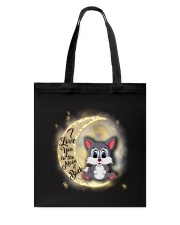Wolf anh the moon Tote Bag thumbnail