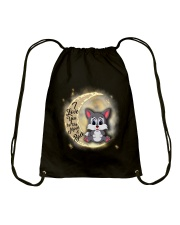 Wolf anh the moon Drawstring Bag thumbnail