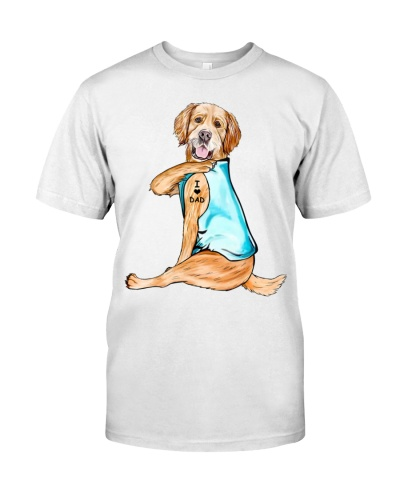 Golden Retriever I Love Dad