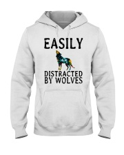 Wolf - Easily Distracted Hooded Sweatshirt front