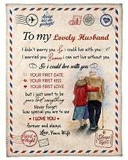 To My Husband Test Fleece Blanket tile