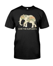 SAVE THE ELEPHANTS Classic T-Shirt front