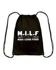 Man I Love Food Drawstring Bag thumbnail