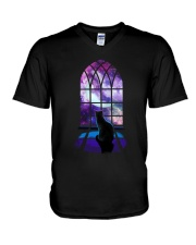 CAT - WINDOW V-Neck T-Shirt thumbnail