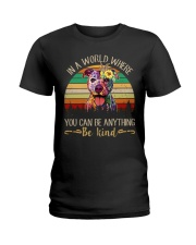 Pitbull In A World Ladies T-Shirt tile