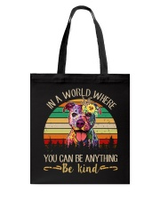Pitbull In A World Tote Bag tile