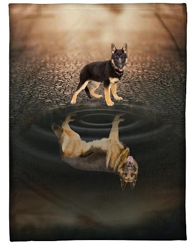 German Shepherd Reflection Graphic Design