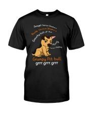 German Shepherd Touchy Grumpy Classic T-Shirt front