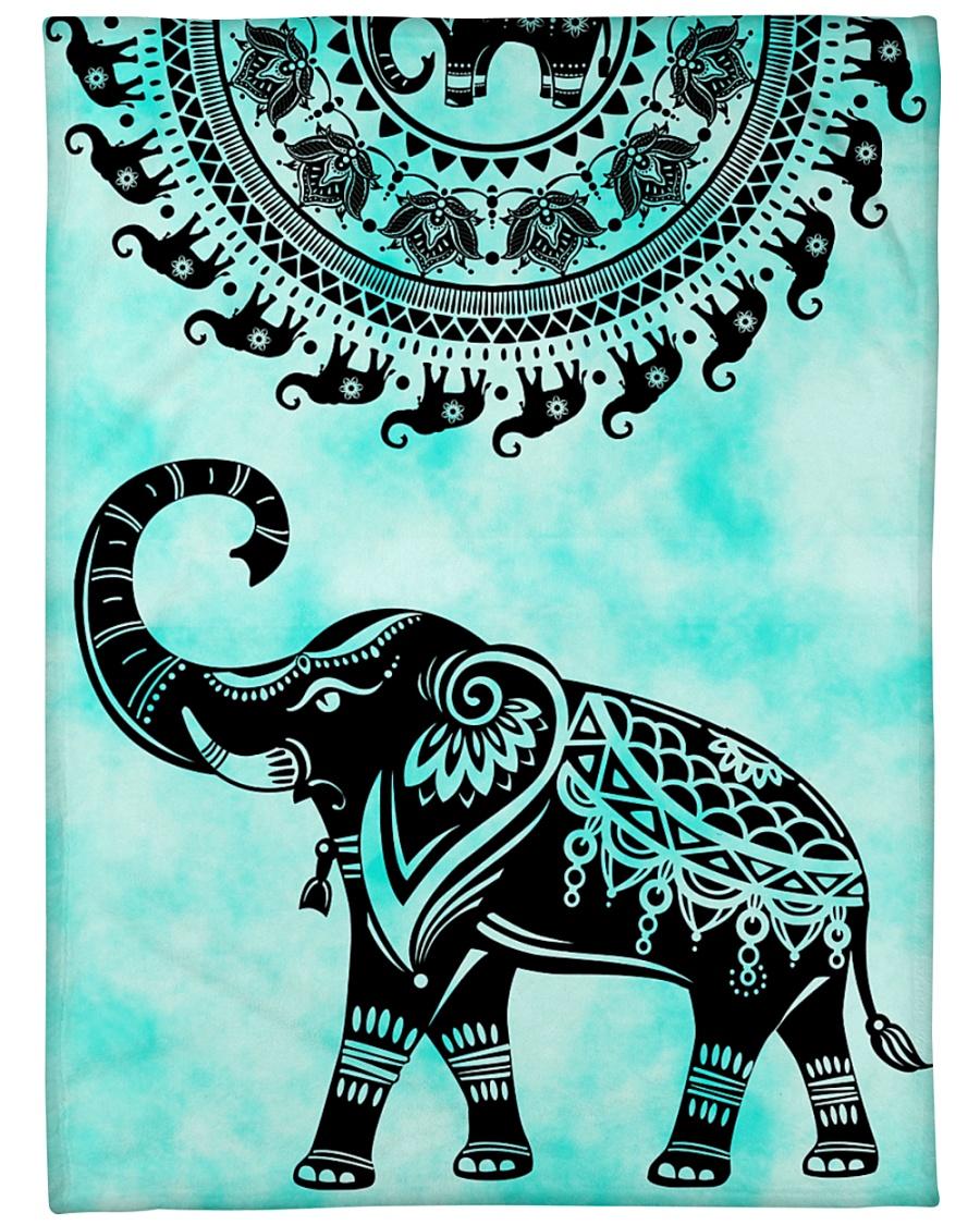"""Elephant Nature Large Fleece Blanket - 60"""" x 80"""""""