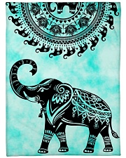 "Elephant Nature Large Fleece Blanket - 60"" x 80"" front"