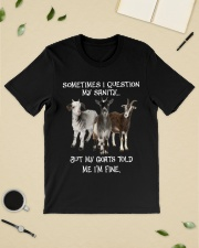 Goats Sometimes I Question My Sanity Classic T-Shirt lifestyle-mens-crewneck-front-19