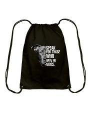 Pitbull Speak For Those Who have No Voice Drawstring Bag thumbnail