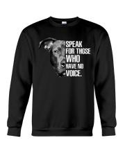 Pitbull Speak For Those Who have No Voice Crewneck Sweatshirt thumbnail