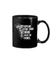 Pitbull Speak For Those Who have No Voice Mug thumbnail