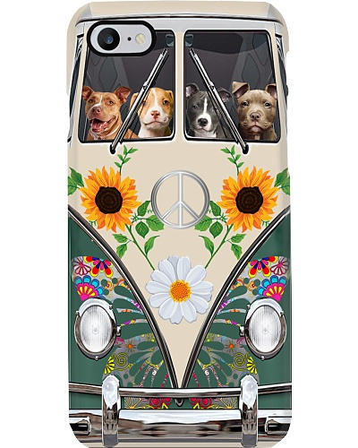 Pit Bull Hippie Bus Phonecase